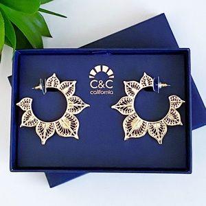 C&C California Sunburst Gold Earrings